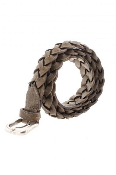 Cintura marrone in pelle intrecciata A/I 16-17 RIONE FONTANA