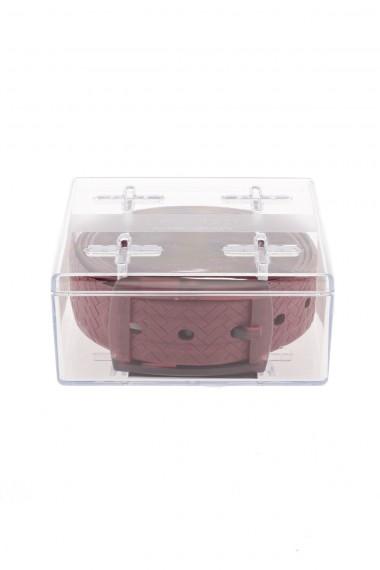 Cintura TIE-UPS rosso scarlatto con mattoni