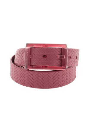 Bright red color belt for men TIE-UPS