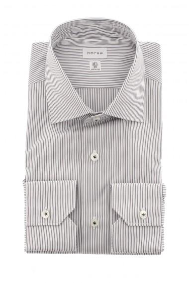 Camicia bianca con righe nere BORSA per uomo A/I 16-17