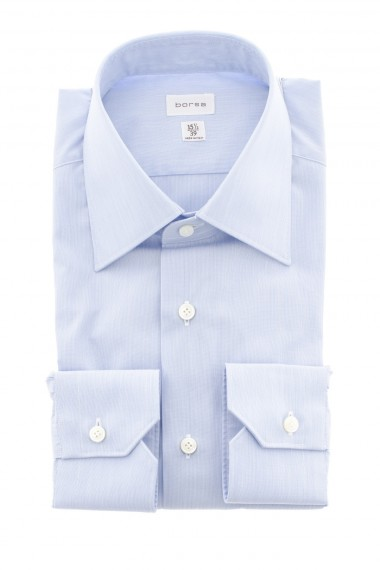 A/I 16-17 Camicia BORSA con micro-riga bianco e blu