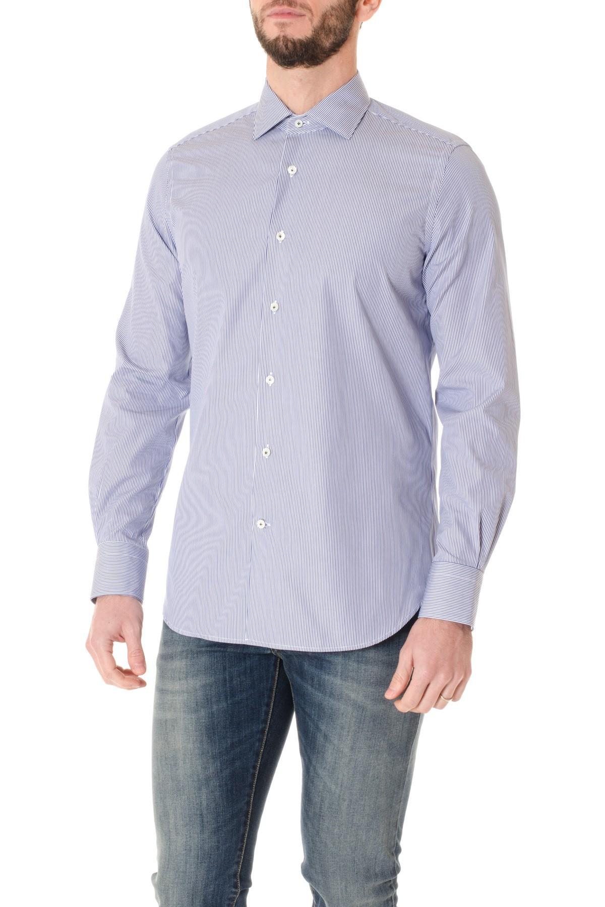 su Fontana sfondo bianco AI a BORSA righe Camicia blu Rione gqtZSwg