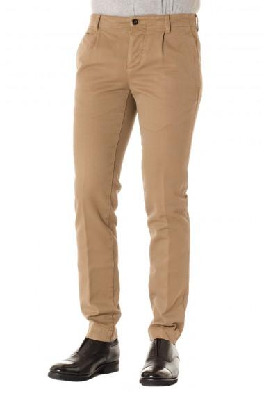 PIATTO Brown cotton trousers F/W 16-17