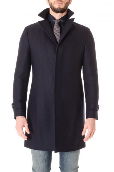 0830bcff508 F W 16-17 Dark blue coat for men TAGLIATORE ...