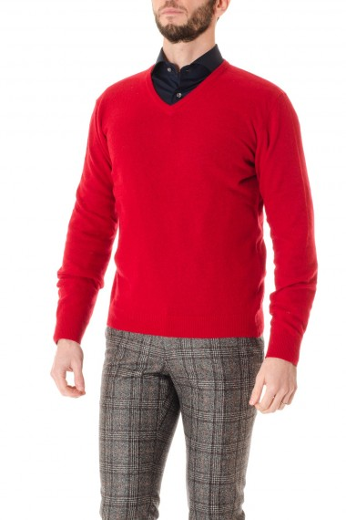 F/W 16-17 Red V neck sweater RE_BRANDED