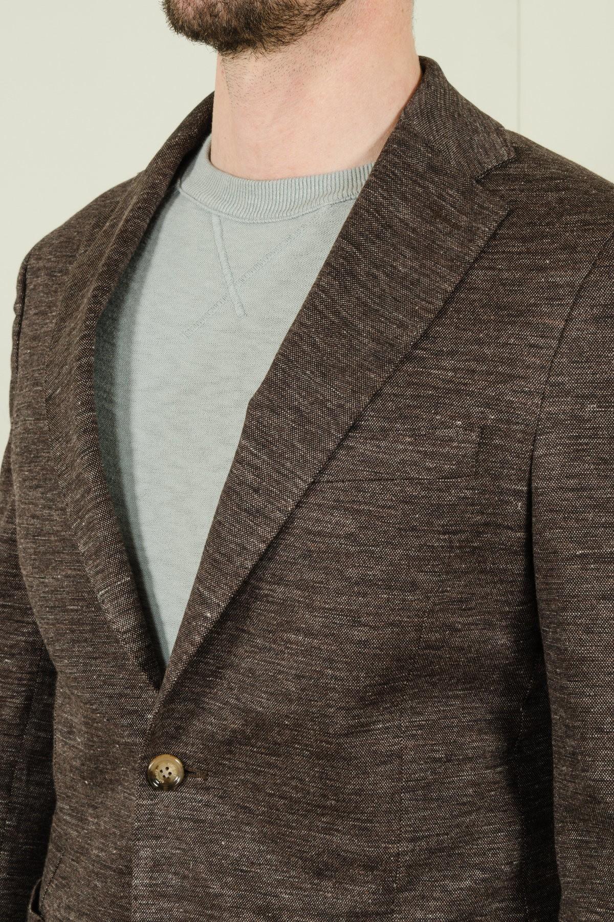 ELEVENTY Spring-Summer Single-breasted jacket notched collar
