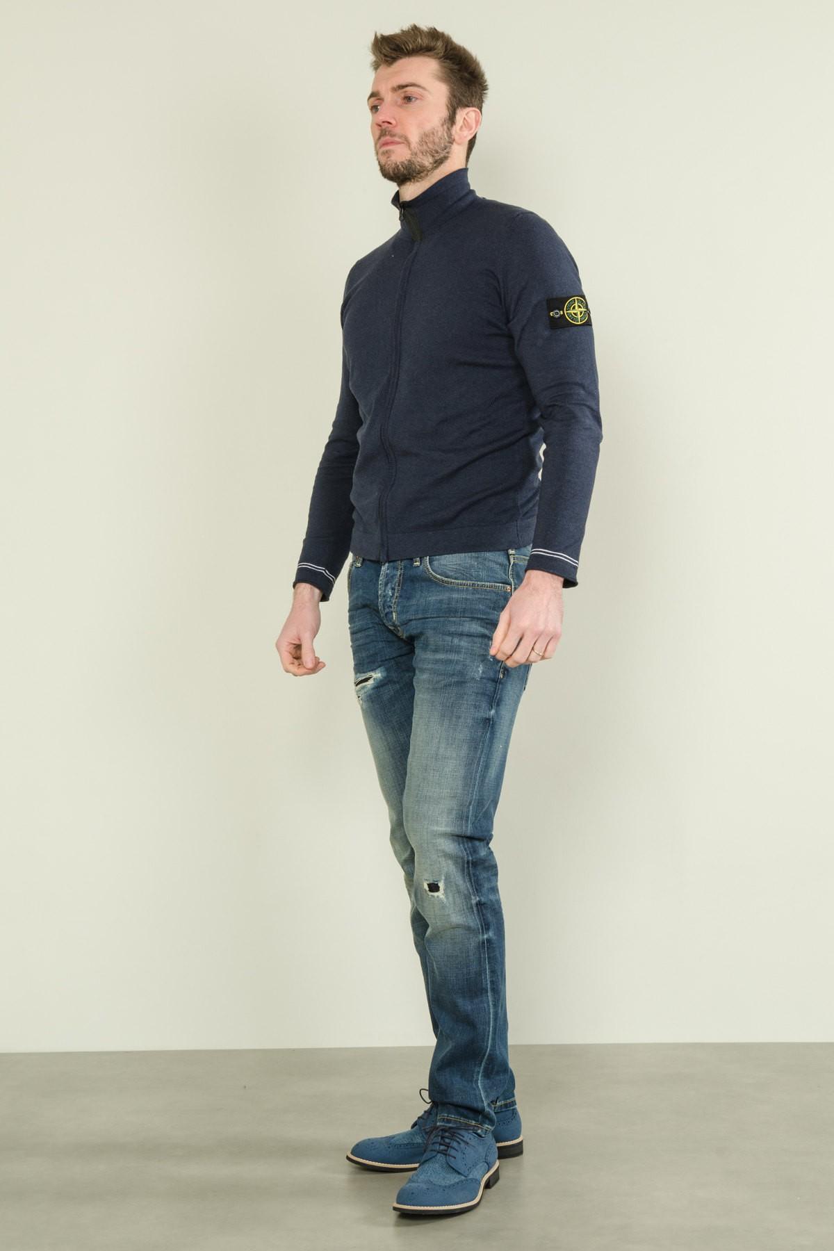 Jeans denim effetto used con strappi BRIAN DALES