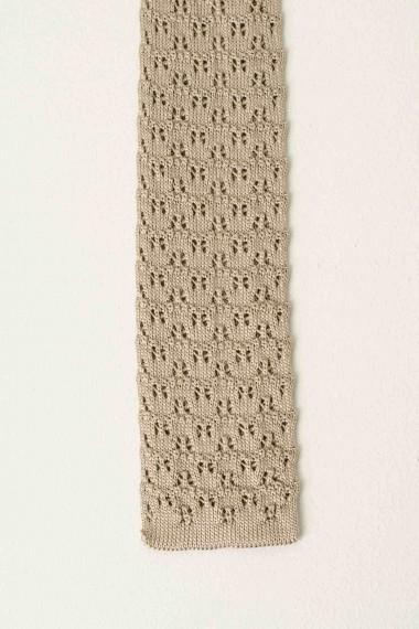 Silk tie ELEVENTY beige S/S17