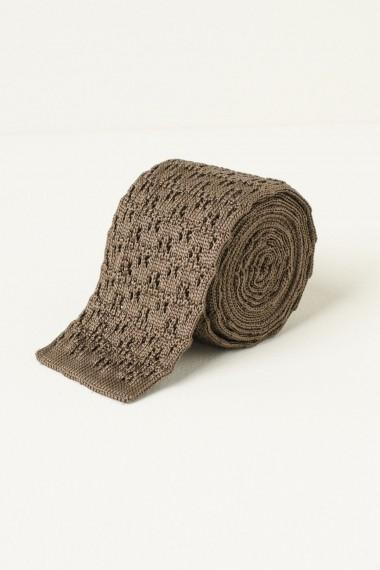 Silk tie ELEVENTY brown S/S17