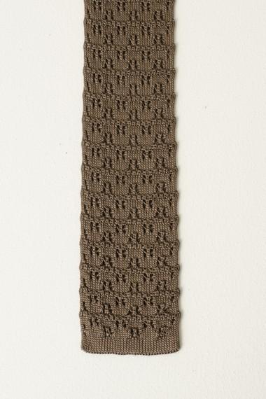 Cravatta ELEVENTY marrone P/E17