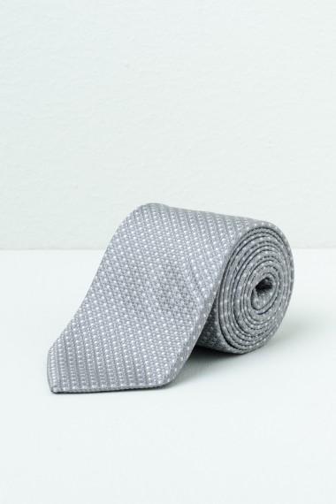 Tie FRANCO BASSI Light Grey S/S