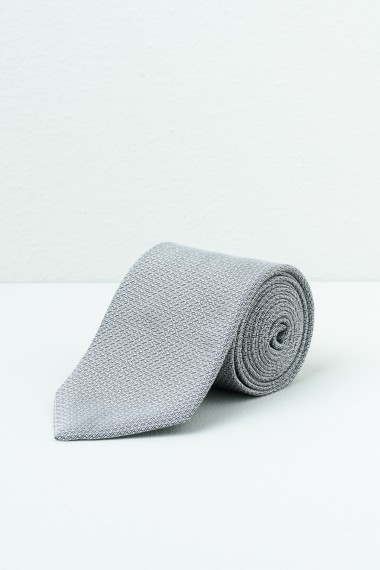 Tie FRANCO BASSI Light Grey S/S
