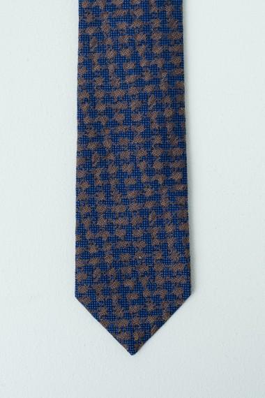 Cravatta FRANCO BASSI blu/marrone P/E17