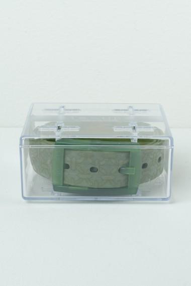 Cintura con disegni TIE-UPS verde