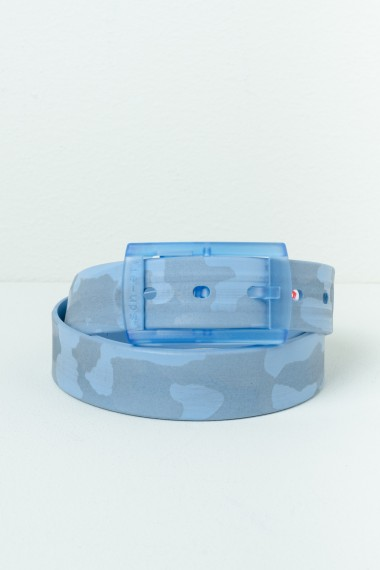 F/W 16-17 Light blue camouflage belt for man TIE-UPS