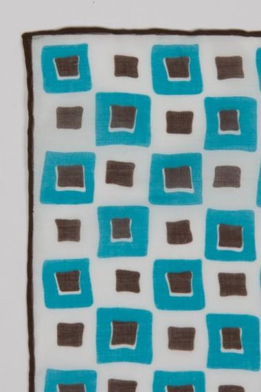 """Franco Bassi. Cotton pocket square """"1084 04"""""""