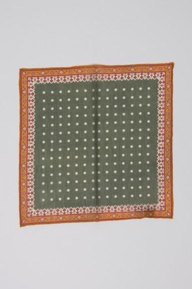 """Franco Bassi. Cotton pocket square """"1081 02"""""""