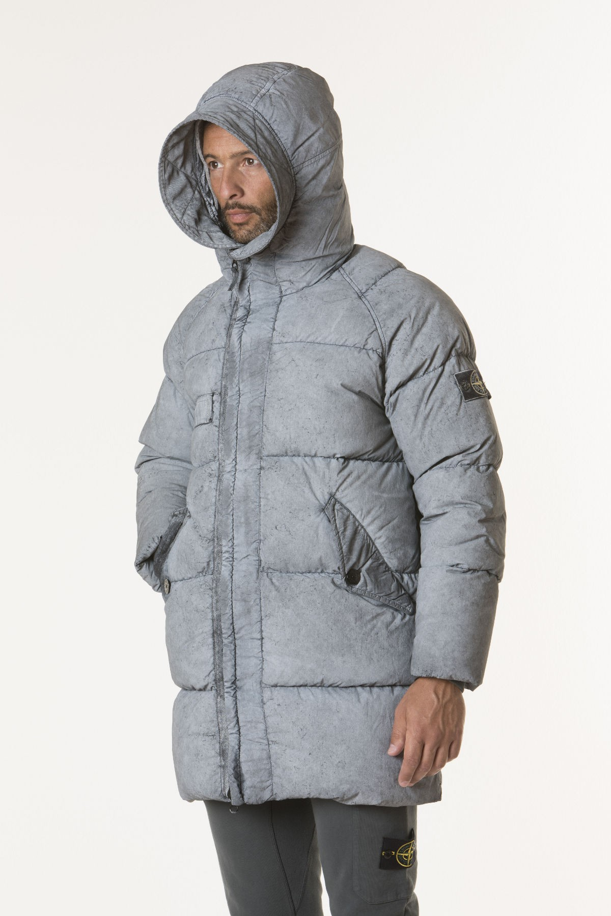 Jacket Tela Nylon Down With Dust Colour Frost Finish For