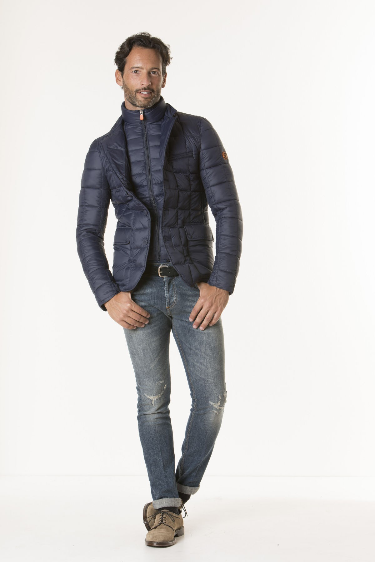 classic fit 800b0 2f480 Jacket GIGA5 NAVY BLUE for man SAVE THE DUCK F/W 17-18