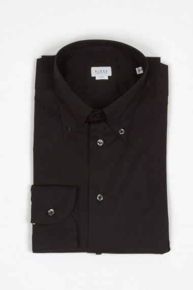 Rione Fontana. Camicia button down nera