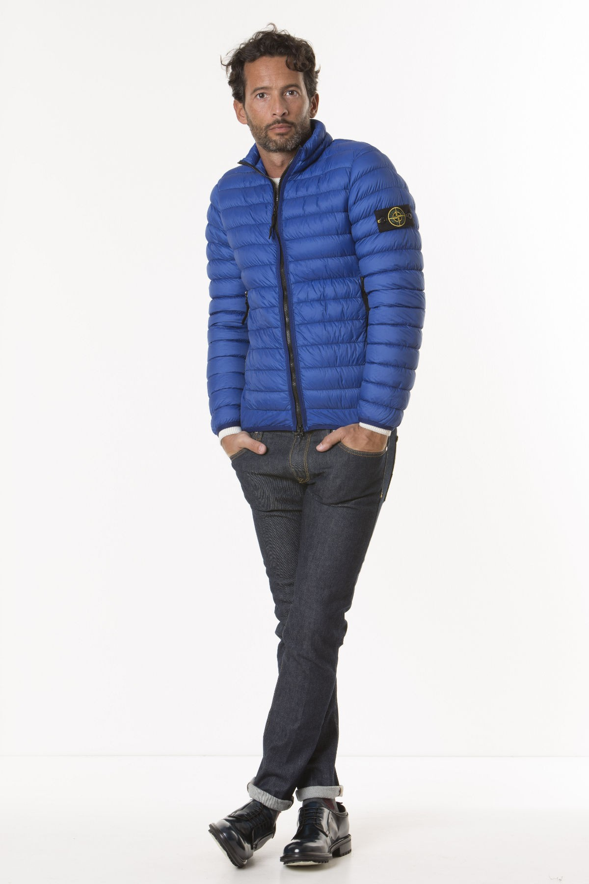 online retailer 308a0 66f56 Piumino GARMENT DYED MICRO YARN DOWN_PACKABLE per uomo STONE ISLAND A/I  17-18