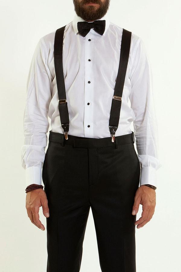 9767b43261 MAURO GRIFONI Camicia bianca con bottoni neri per uomo Polsi gemelli