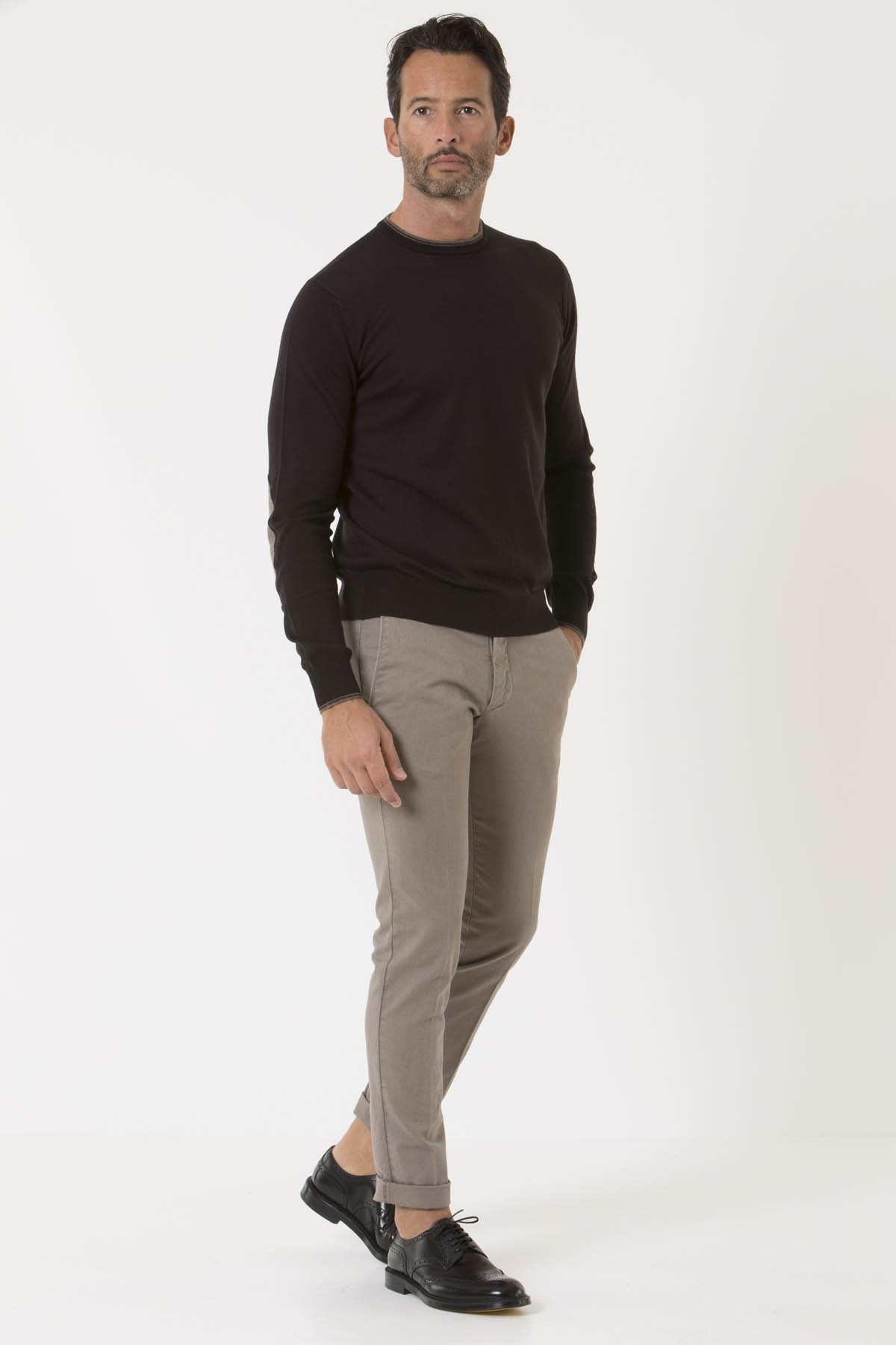 Trousers for man MICHAEL COAL A/I 18-19