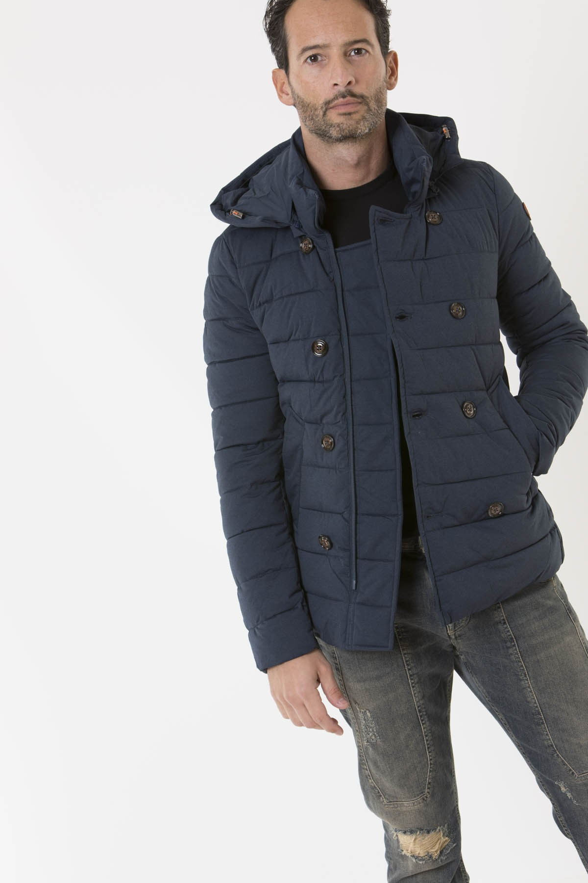 size 40 386a6 82c36 Jacket for man D3853M ANGY7 SAVE THE DUCK F/W 18-19