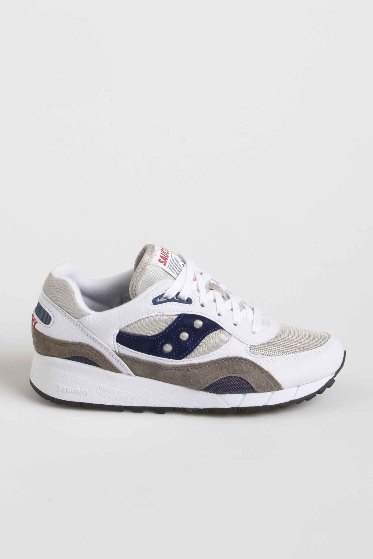 size 40 de426 8e28a SAUCONY SHADOW 6000 White / Grey / Blue Navy S/S19