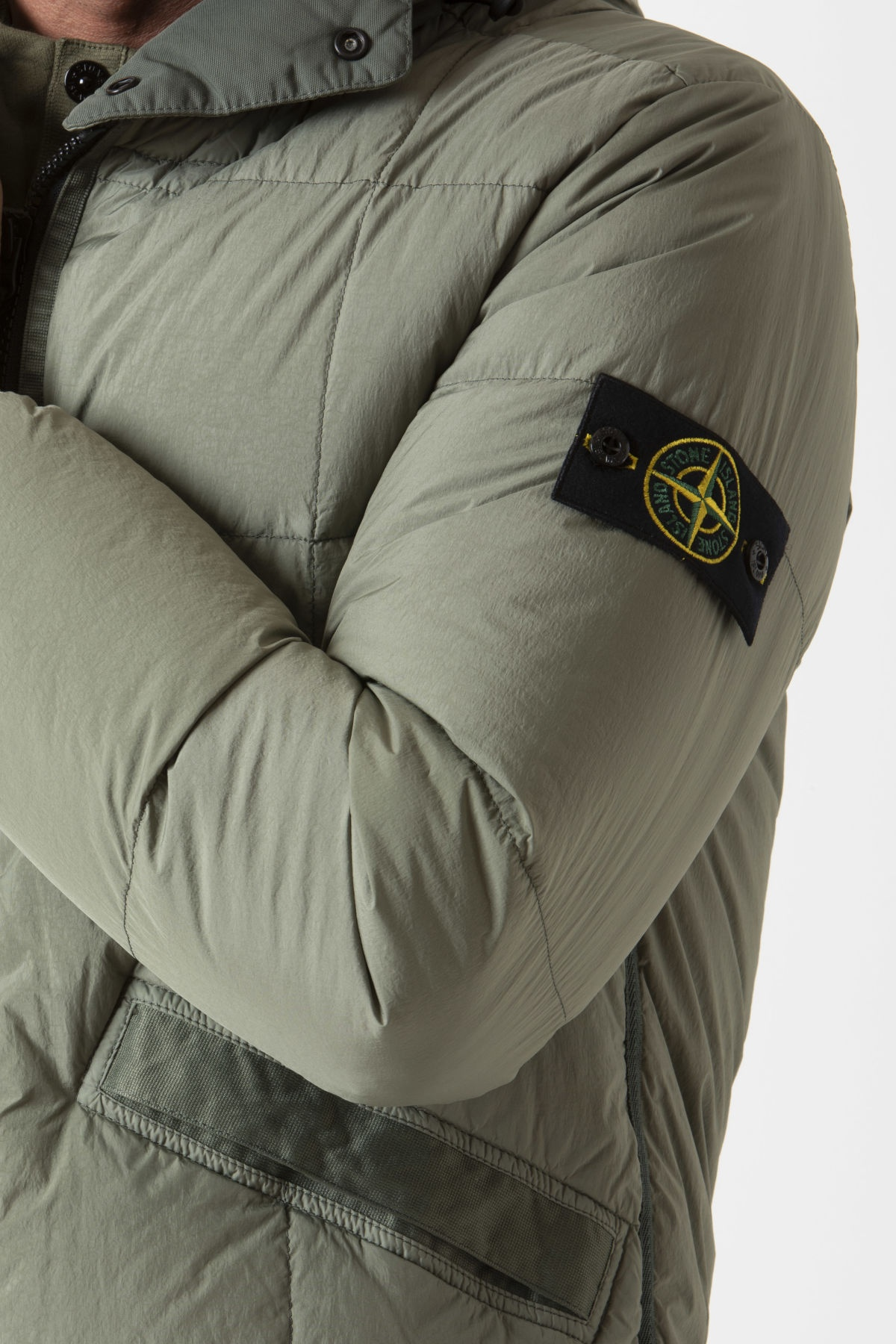 Giubbotto GARMENT DYED CRINKLE REPS NY DOWN per uomo STONE ISLAND A/I 19-20