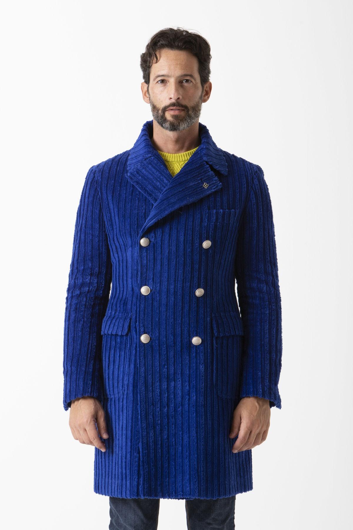 cappotto blu elettrico uomo