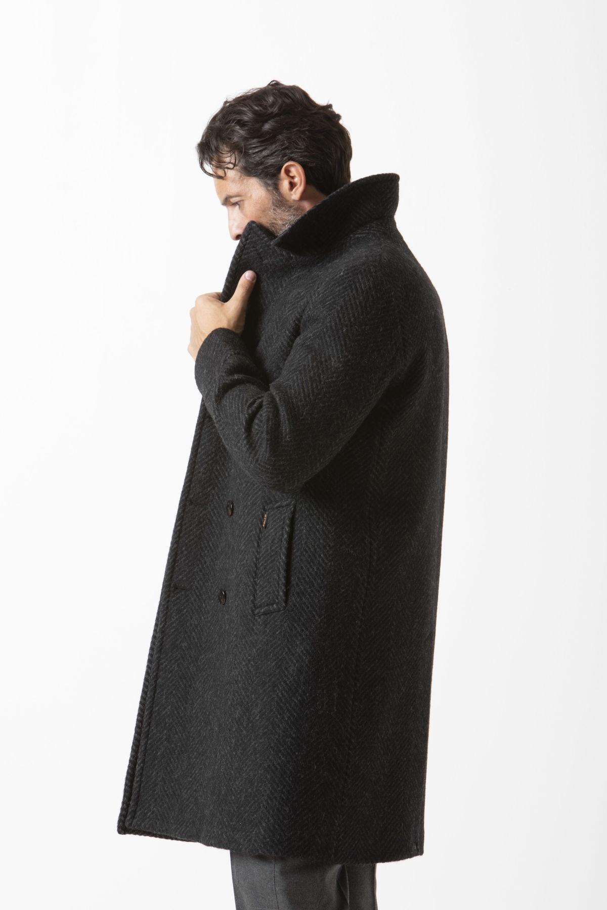 Palto' Herren Achille17warm954 Grün Wolle Mantel: