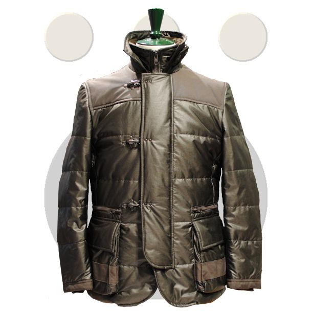 Berwick Jacket lunga in materiale tecnico.