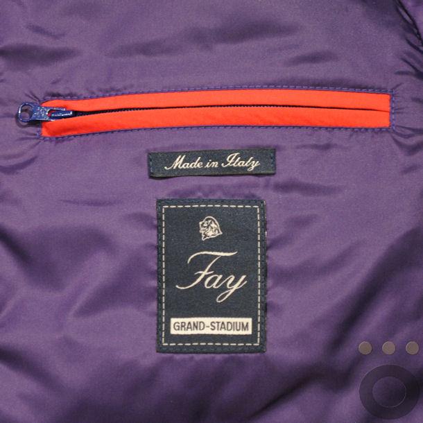 Fay Grand-Stadium: dettaglio etichetta e tasca interna.