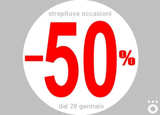 Saldi. Dal 28 gennaio prezzi scontati fino al 50%.