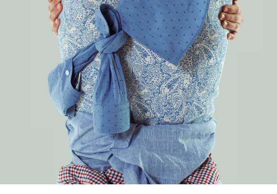 The Sartorialist 1958 camicie per uomo di grande qualita. 100% made in Italy. Camicia in lino con motivi cashmere.