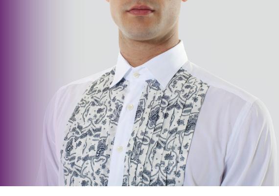 Etro camicia da uomo plissettata da cerimonia